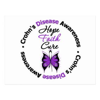 Crohn's Disease Hope Faith Cure Postcard