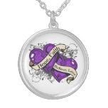 Crohn's Disease Hope Faith Dual Hearts Necklace