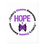 Crohns Disease HOPE Grunge Butterfly Post Card