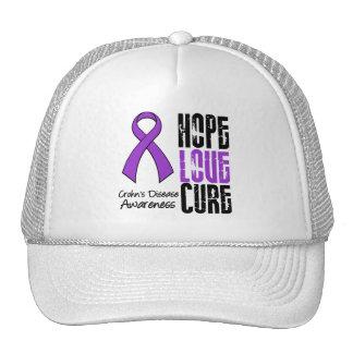 Crohn's Disease Hope Love Cure Ribbon Mesh Hats