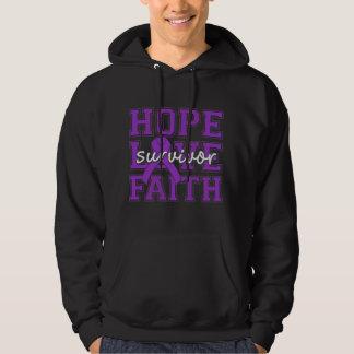 Crohns Disease Hope Love Faith Survivor Hoody