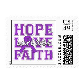 Crohns Disease Hope Love Faith Survivor Stamps