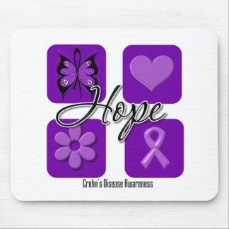 Crohns Disease Hope Love Inspire Awareness Mouse Pad