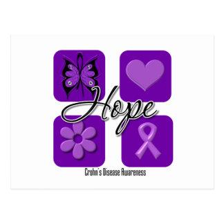 Crohns Disease Hope Love Inspire Awareness Postcards