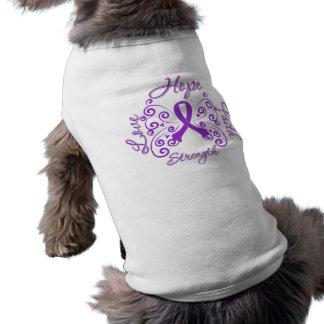 Crohn's Disease Hope Motto Butterfly Pet Tee Shirt
