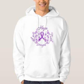 Crohn's Disease Hope Motto Butterfly Hooded Pullover