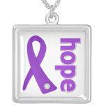 Crohns Disease Hope Purple Ribbon Custom Jewelry