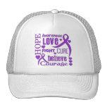 Crohn's Disease Hope Words Collage Trucker Hat