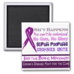 Crohn's Disease Humor 2 Inch Square Magnet