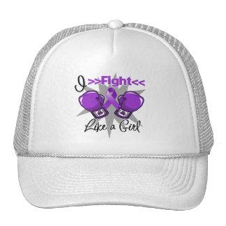 Crohn's Disease I Fight Like a Girl With Gloves Trucker Hat