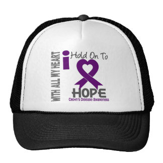 Crohns Disease I Hold On To Hope Trucker Hat