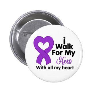 Crohn's Disease I Walk For My Hero Button