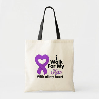Crohn's Disease I Walk For My Hero Canvas Bags