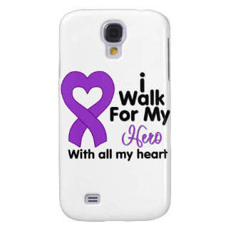 Crohn's Disease I Walk For My Hero Samsung Galaxy S4 Covers