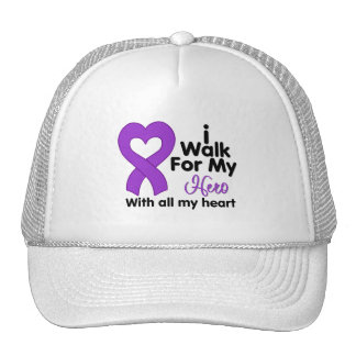 Crohn's Disease I Walk For My Hero Trucker Hat