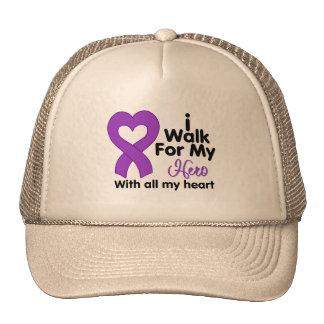 Crohn's Disease I Walk For My Hero Mesh Hat
