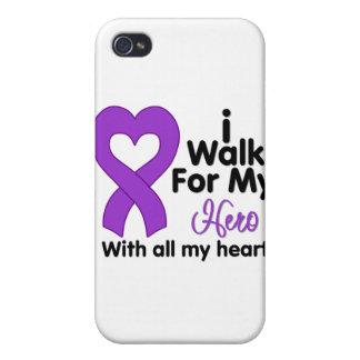 Crohn's Disease I Walk For My Hero Cover For iPhone 4