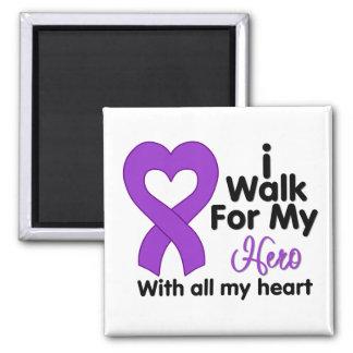 Crohn's Disease I Walk For My Hero Refrigerator Magnets