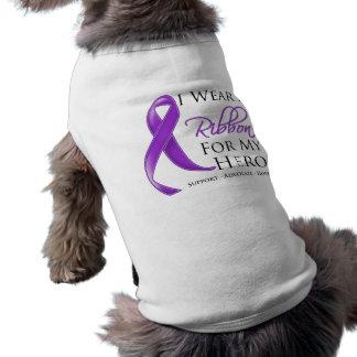 Crohn's Disease I Wear a Ribbon For My Hero Doggie Tee