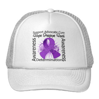 Crohn's Disease Inspirations Spiral Ribbon Trucker Hats