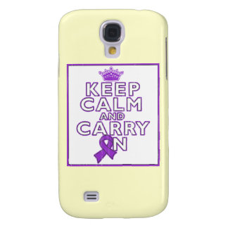 Crohn's Disease Keep Calm and Carry ON Galaxy S4 Cover