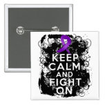 Crohns Disease Keep Calm and Fight On Pinback Button