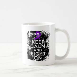 Crohns Disease Keep Calm and Fight On Classic White Coffee Mug