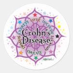 Crohn's Disease Lotus Classic Round Sticker