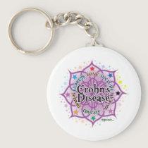 Crohn's Disease Lotus Keychain