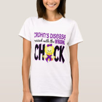 Crohn's Disease Messed With The Wrong Chick T-Shirt