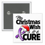 Crohn's Disease My Christmas Wish is a Cure Button