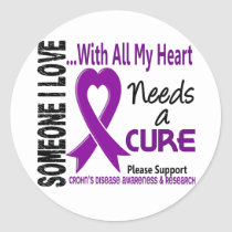 Crohns Disease Needs A Cure 3 Classic Round Sticker
