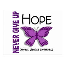 Crohn's Disease Never Give Up Hope Butterfly 4.1 Postcard