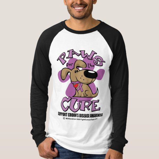 Crohn's Disease Paws for the Cure T-Shirt
