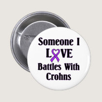 Crohns Disease Pinback Button