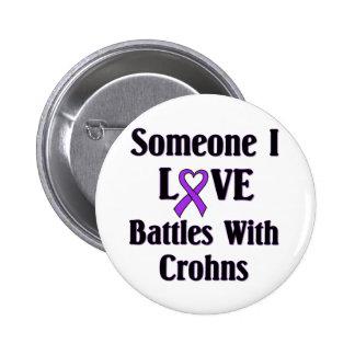 Crohns Disease Pinback Button