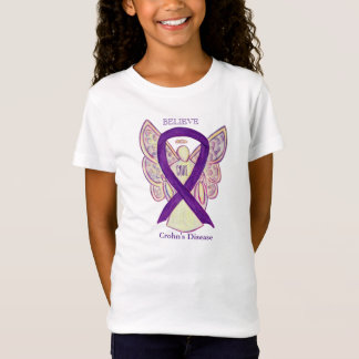 Crohn's Disease Purple Awareness Ribbon Shirt