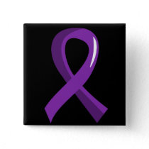Crohn's Disease Purple Ribbon 3 Button
