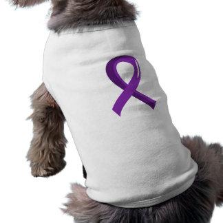 Crohn's Disease Purple Ribbon 3 Dog Clothing