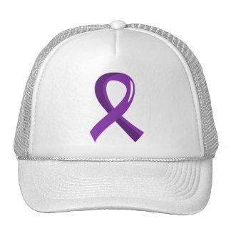 Crohn's Disease Purple Ribbon 3 Mesh Hat