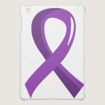 Crohn's Disease Purple Ribbon 3 iPad Mini Case