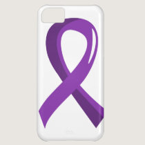 Crohn's Disease Purple Ribbon 3 iPhone 5C Cover
