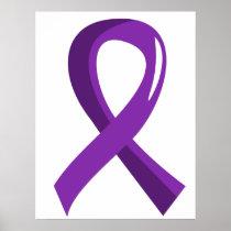 Crohn's Disease Purple Ribbon 3 Poster