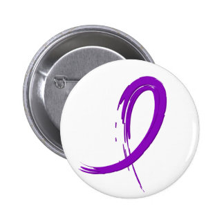 Crohn's Disease Purple Ribbon A4 2 Inch Round Button