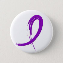 Crohn's Disease Purple Ribbon A4 Button