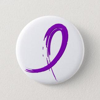 Crohn's Disease Purple Ribbon A4 Button