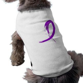 Crohn's Disease Purple Ribbon A4 Dog Clothes