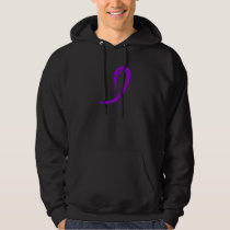 Crohn's Disease Purple Ribbon A4 Hoodie