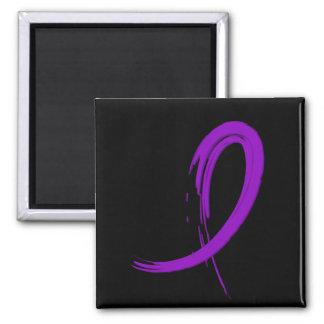 Crohn's Disease Purple Ribbon A4 Refrigerator Magnet