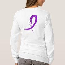 Crohn's Disease Purple Ribbon A4 T-Shirt